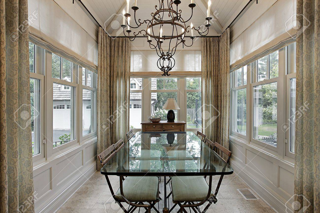 superb luxury home windows #5: ... Exceptional Luxury Home Windows #5: Breakfast Room In Luxury Home  Surrounded By Windows Stock ...