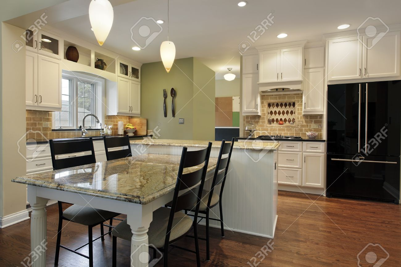 Kitchen Granite Island Kitchen Islands With Table Seating Staggered Height Kitchen