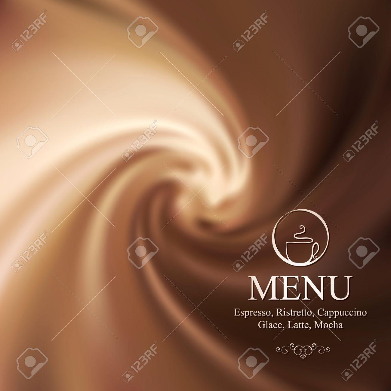 Vector menu design with milk-chocolate background Stock Vector - 10903956