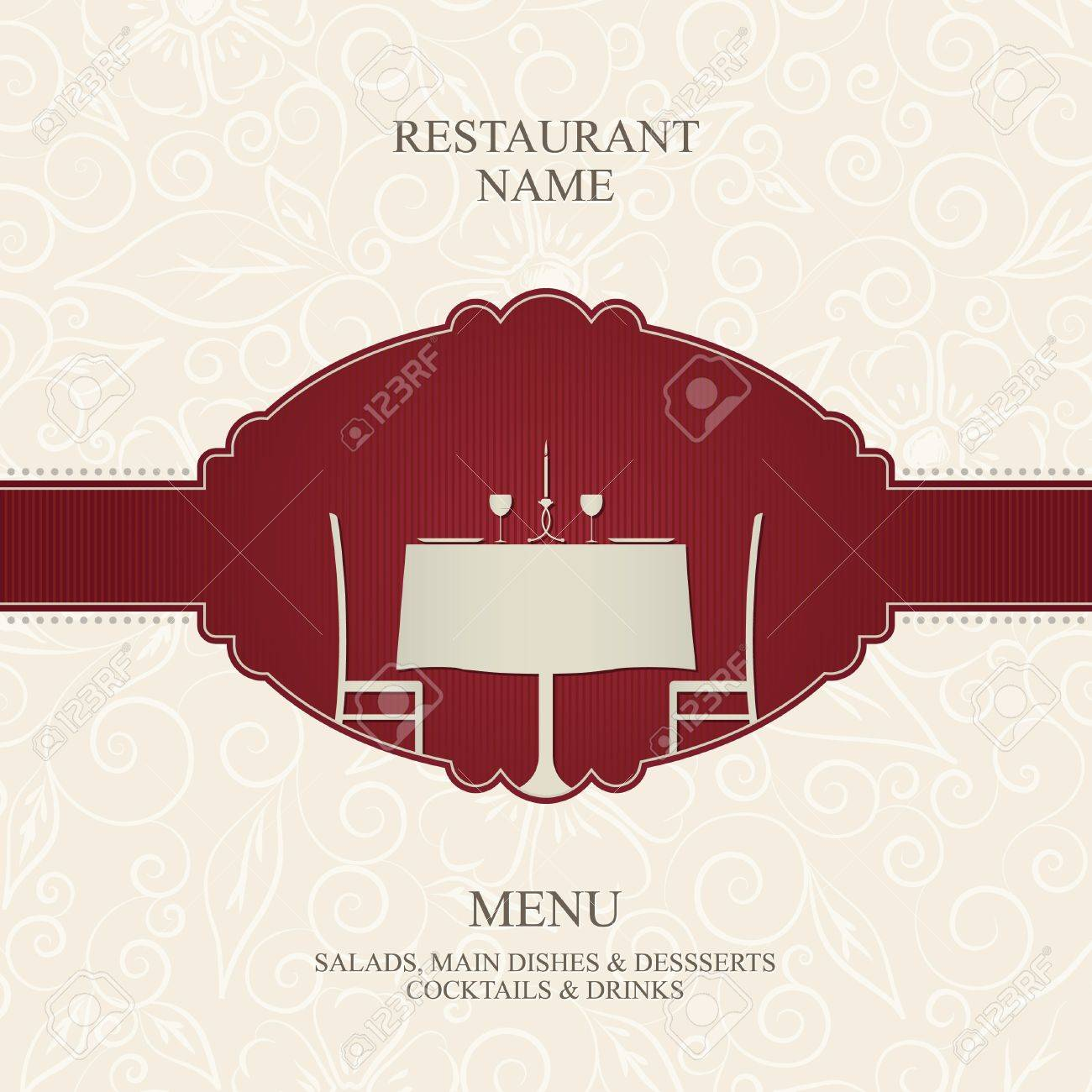 Vector. Restaurant menu design Stock Vector - 10940310