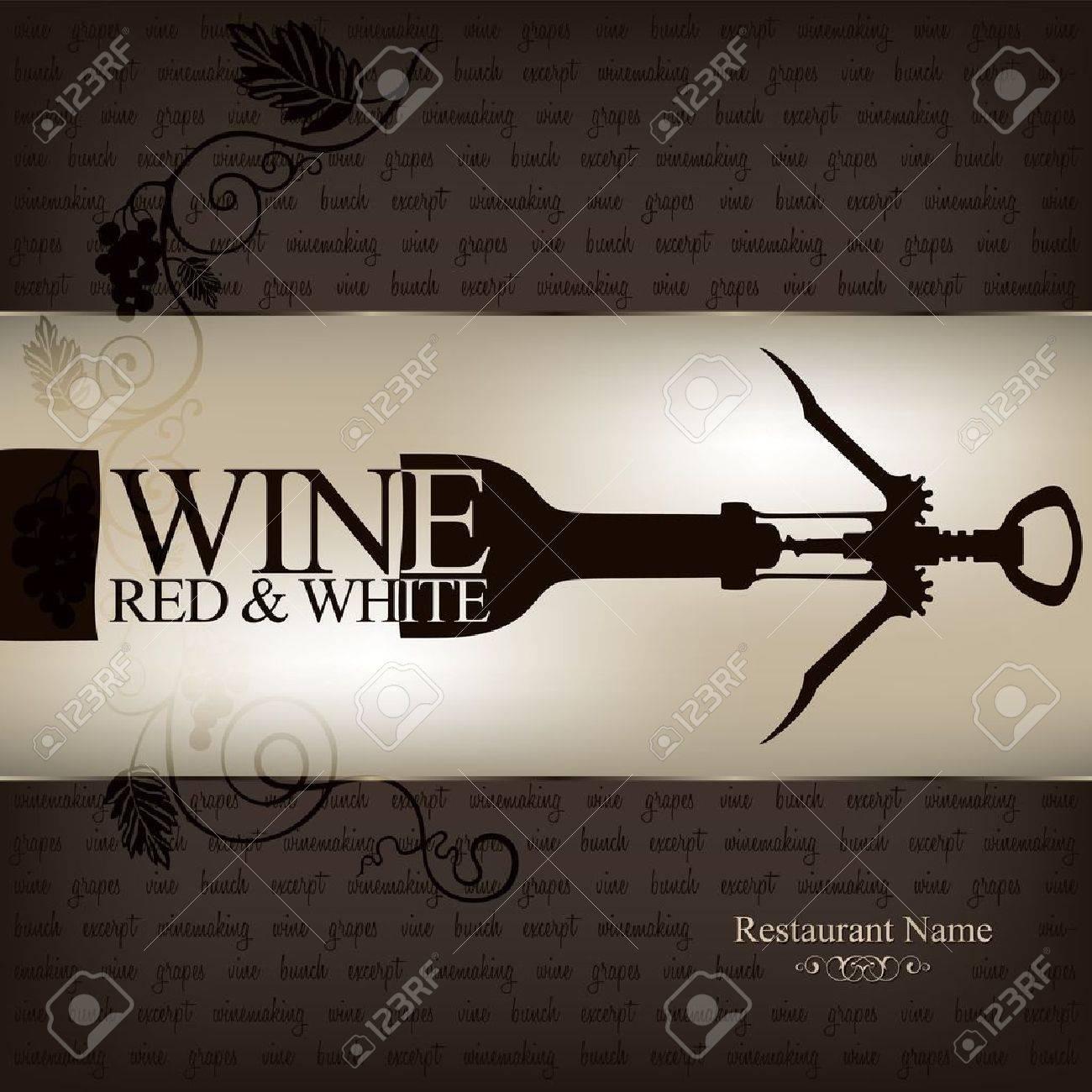 Wine list design Stock Vector - 10940333