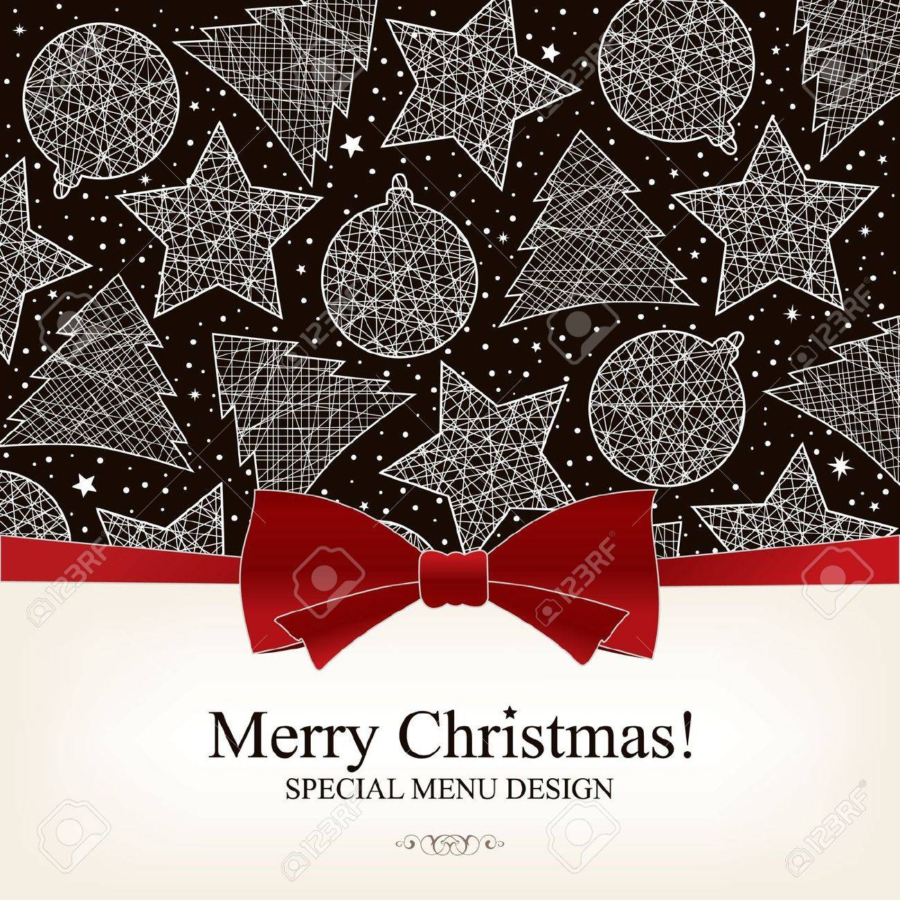 Vector. Special Christmas menu design Stock Vector - 10940317