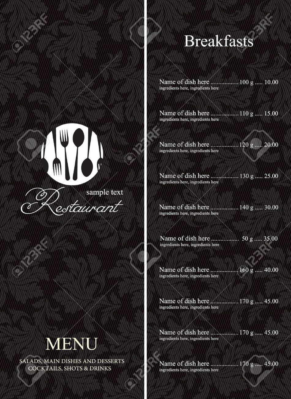 Restaurant menu Stock Vector - 11023770