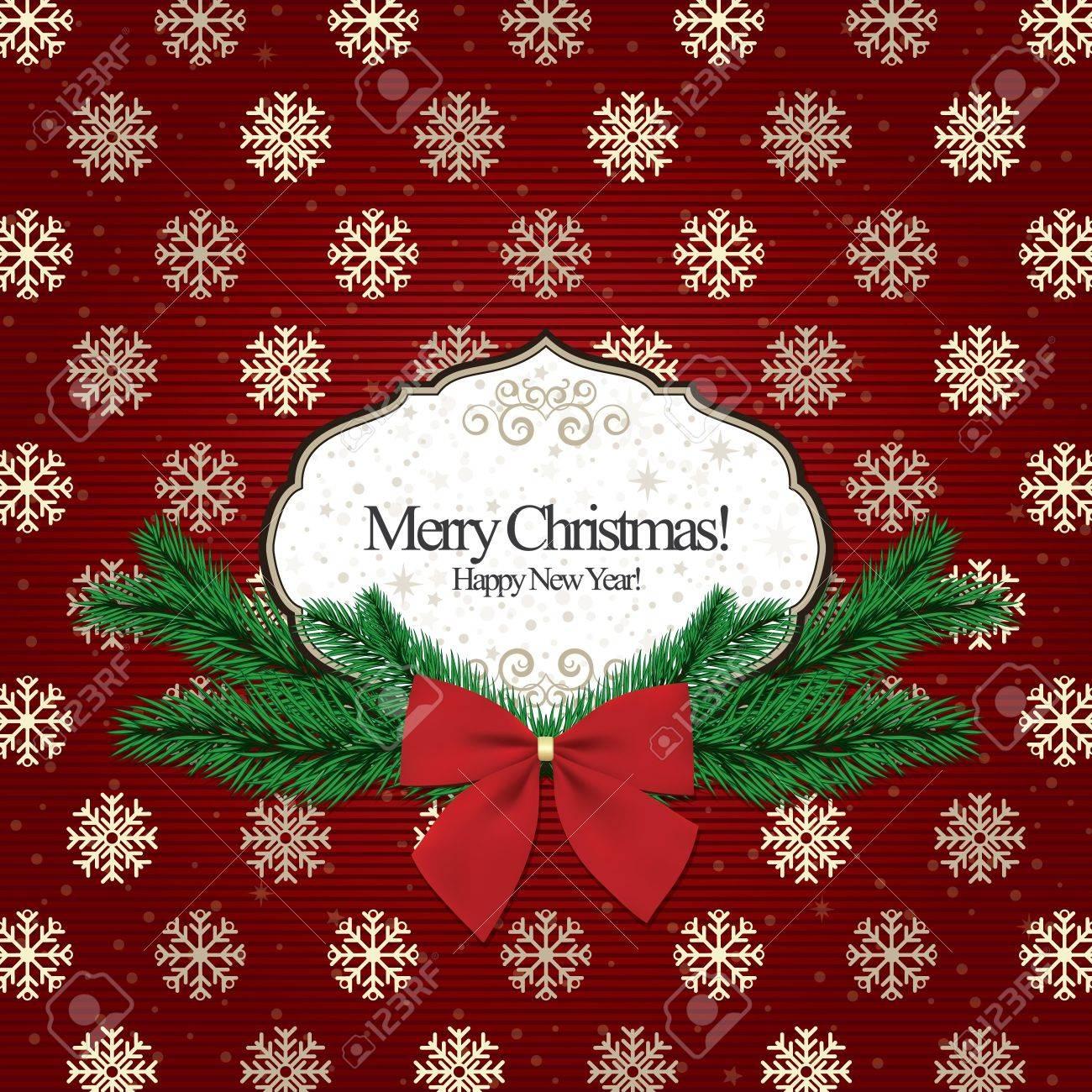 Background christmas, vintage frame for invitation Stock Vector - 11539277