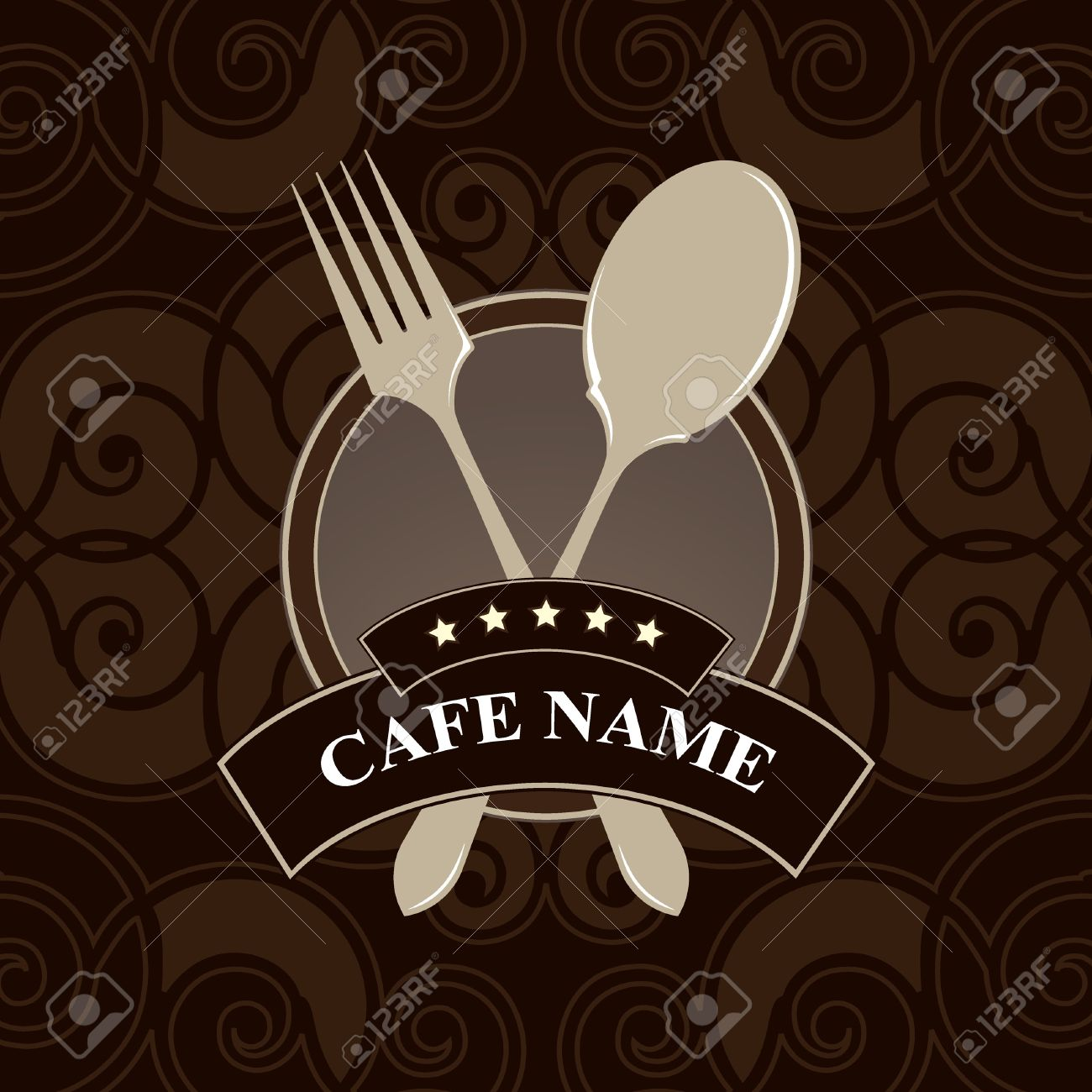vector. cafe menu, cover design. royalty free cliparts, vectors, and