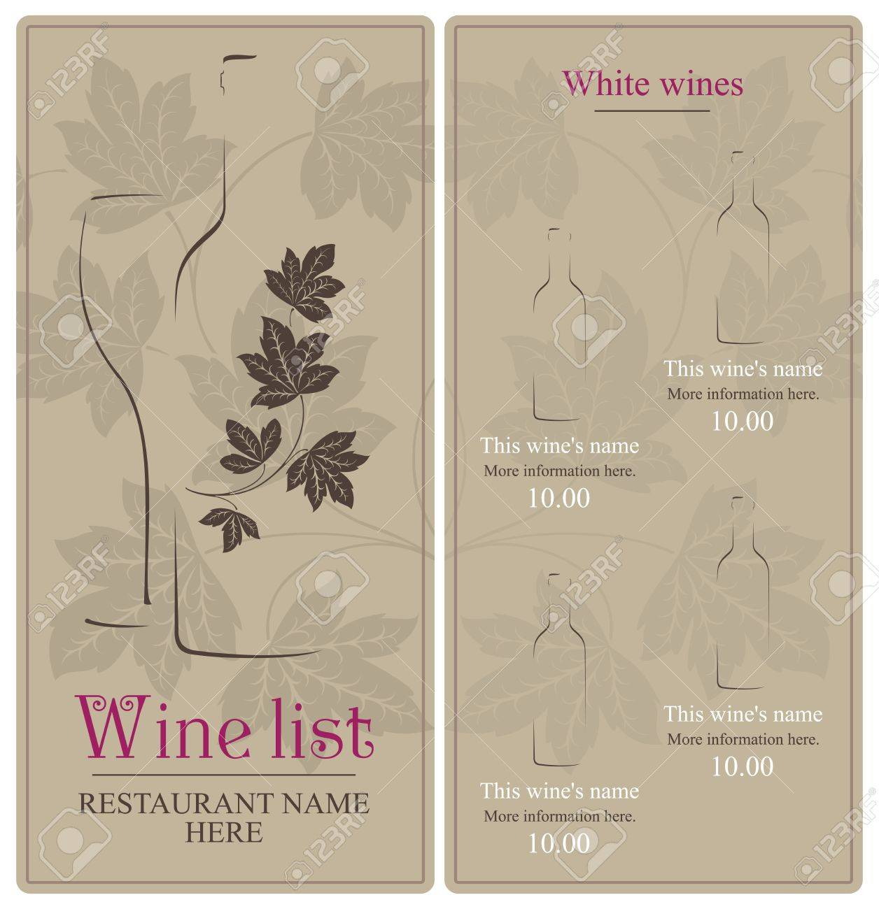 Wine list design Stock Vector - 11659360