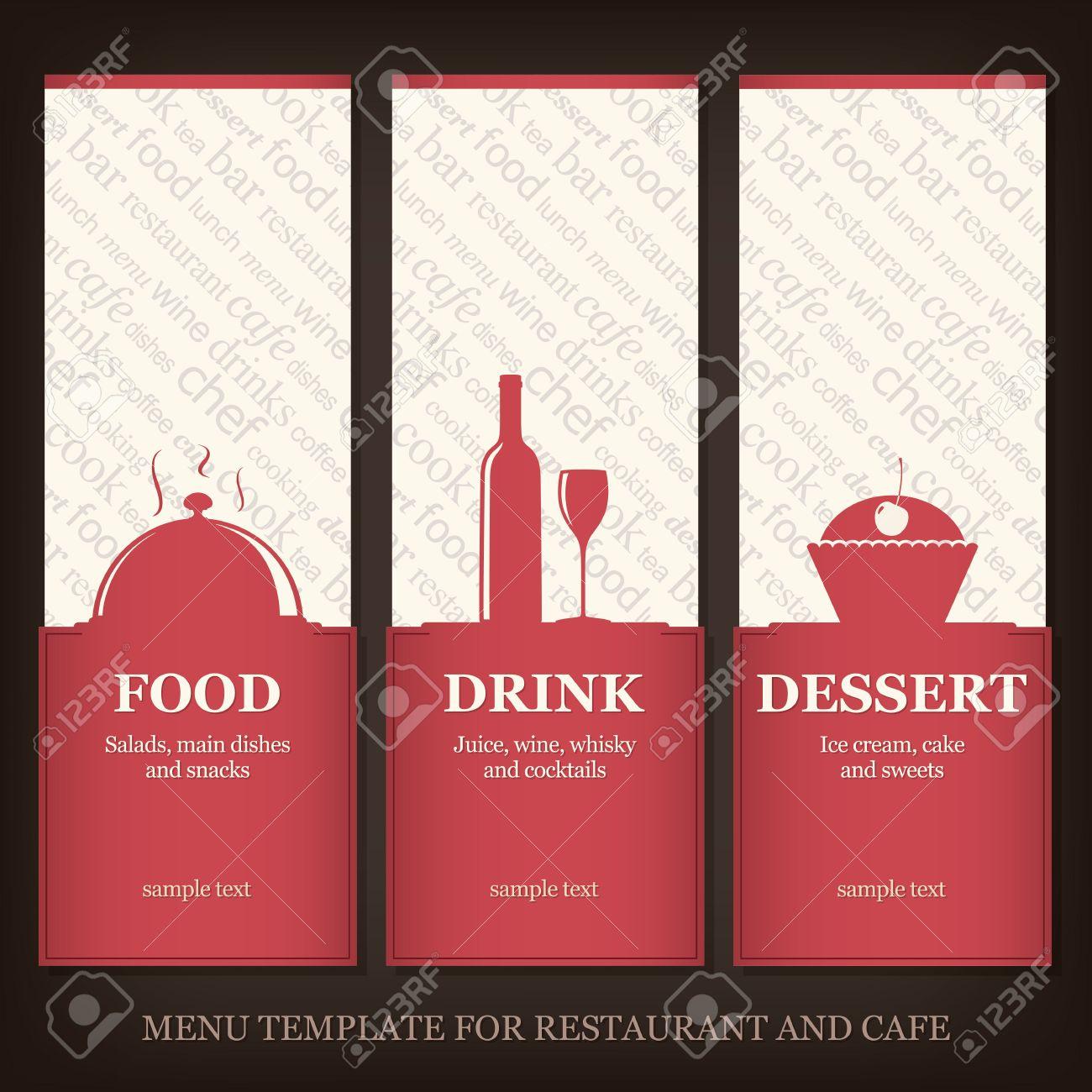 Menú Plantilla Para Restaurante Y Cafetería Ilustraciones ...