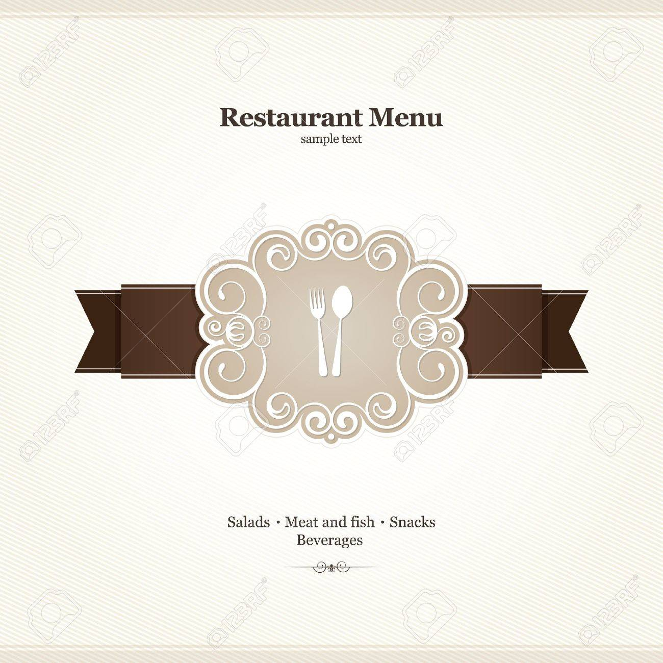 Menu for restaurant, cafe, bar, coffeehouse Stock Vector - 12833959