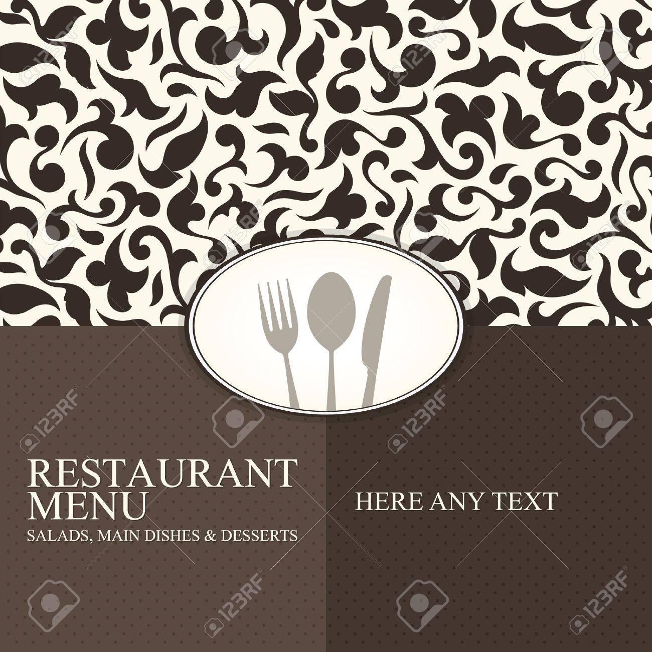 Restaurant menu design Stock Vector - 12992141