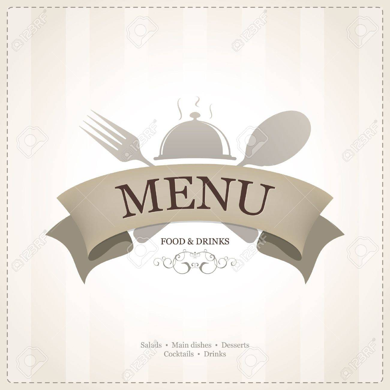 Restaurant menu design Stock Vector - 14411435