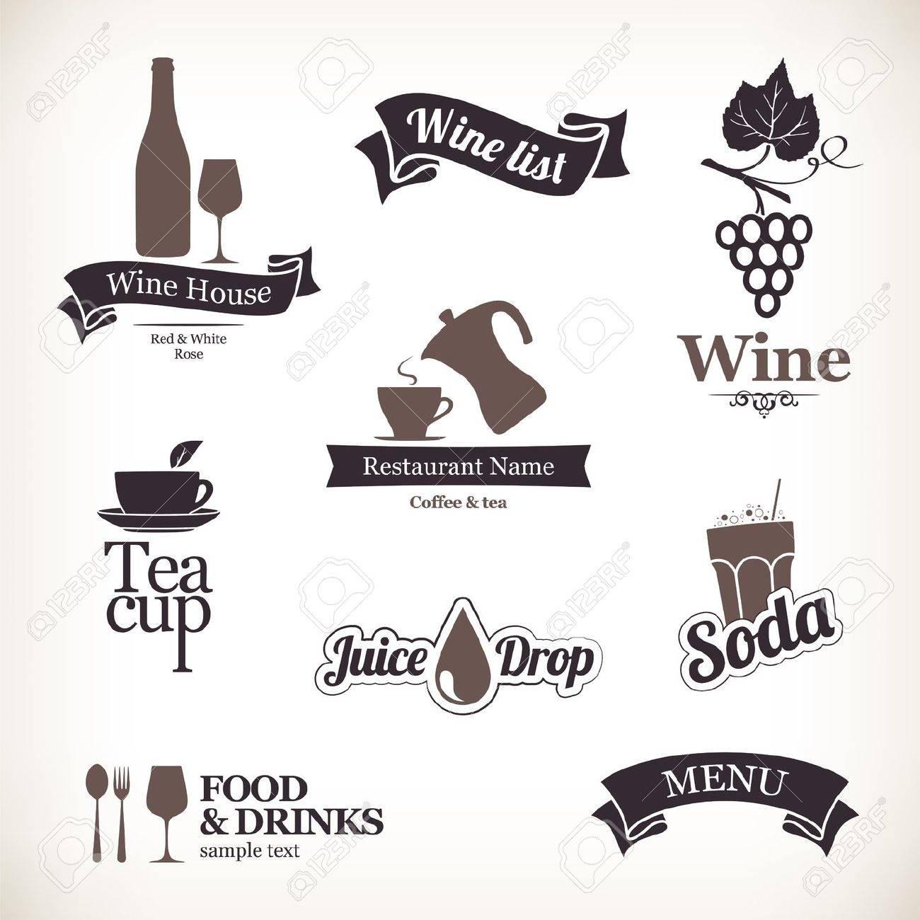 Set of restaurant labels Stock Vector - 14411437