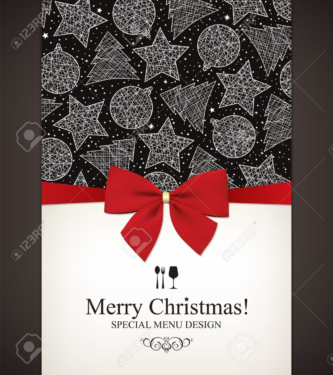 special christmas menu design royalty free cliparts vectors and