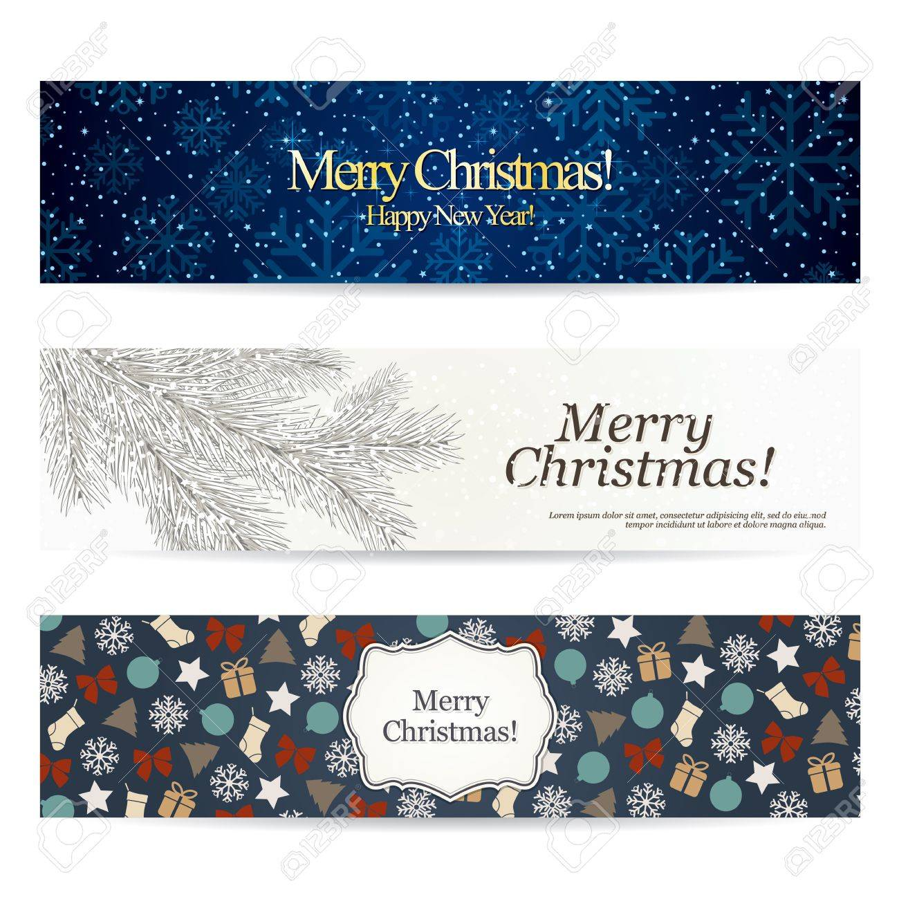 Set of stylish Christmas banners Stock Vector - 14957873