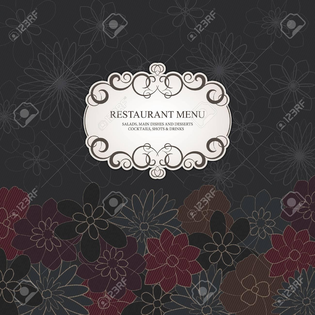 Restaurant menu design, with stylish flower background Stock Vector - 15521094