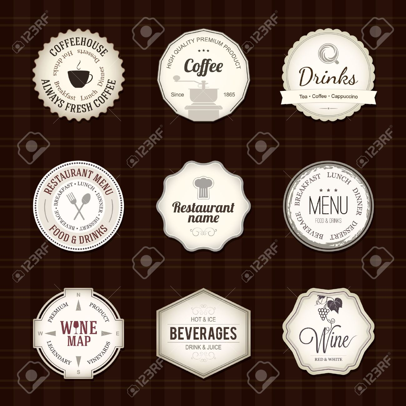 Label set for restaurant and cafe Stock Vector - 16424705