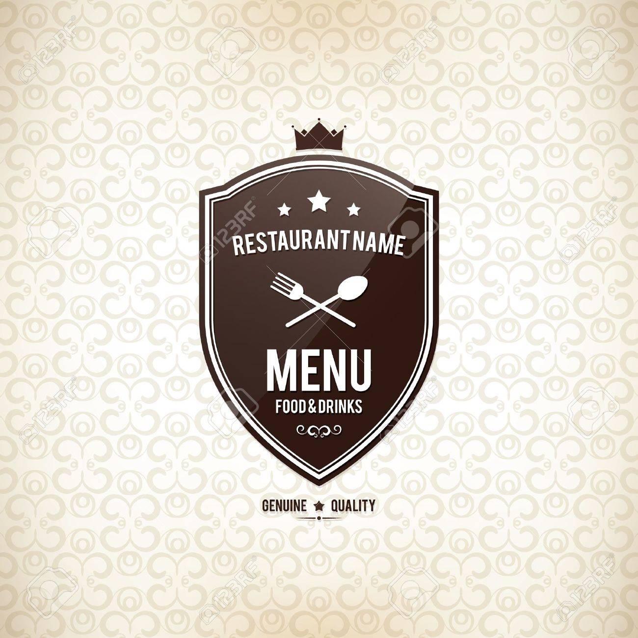 Restaurant menu design Stock Vector - 18575427