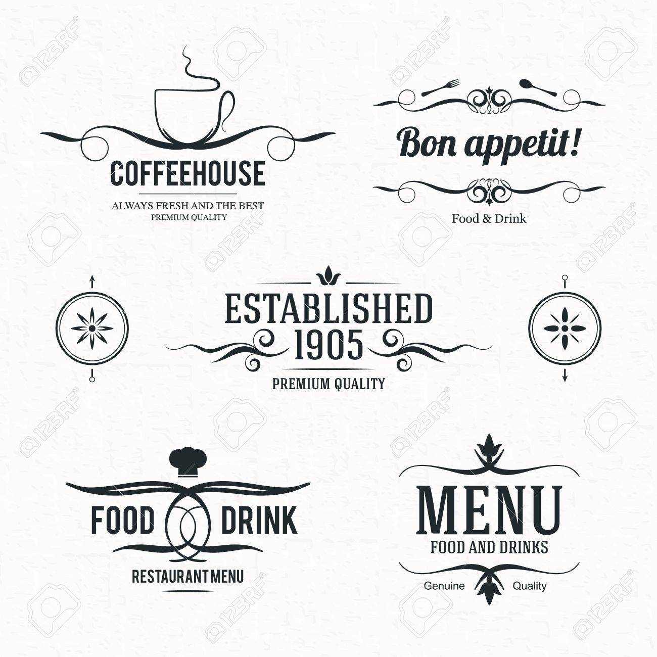 Label set for restaurant, cafe or coffeehouse Stock Vector - 19084472