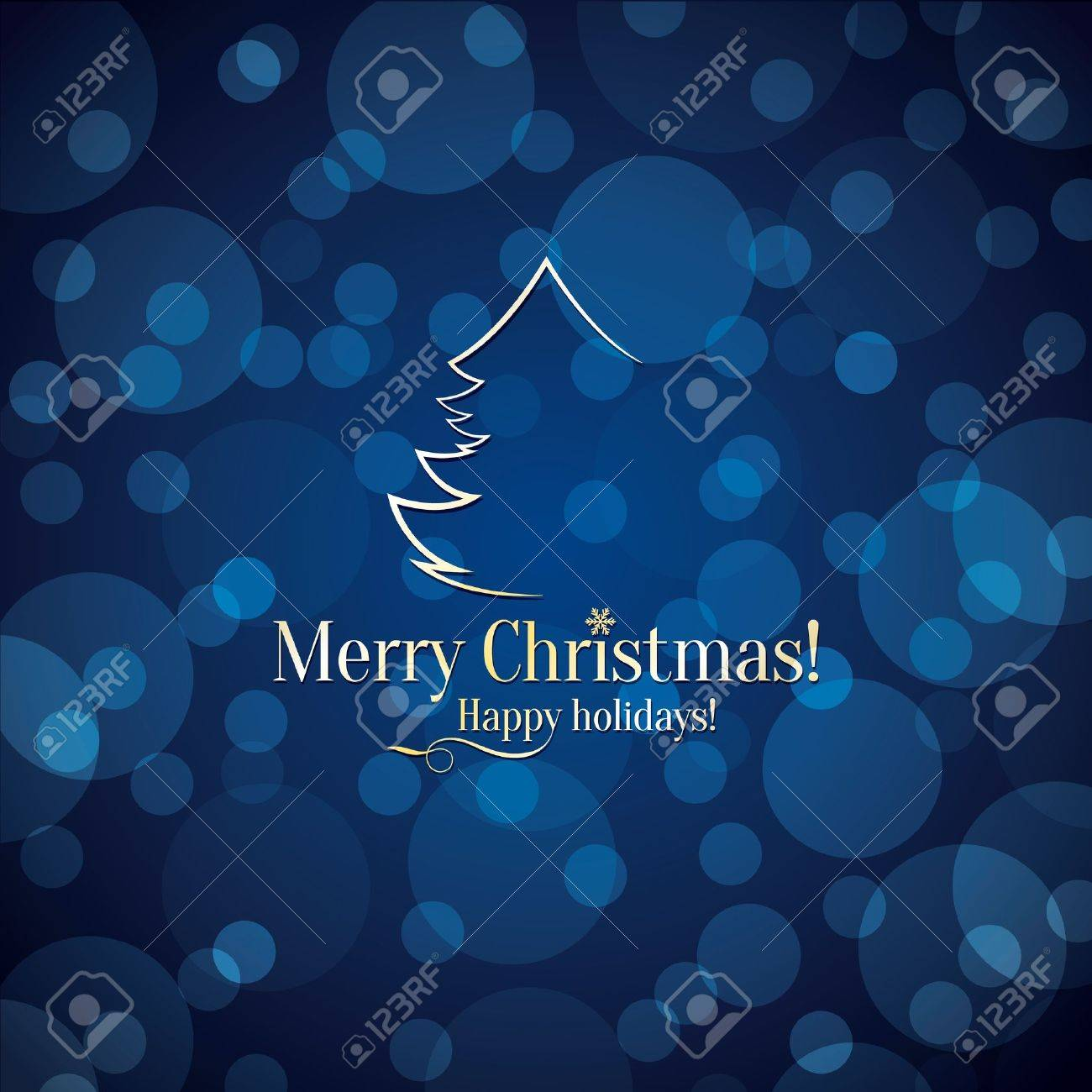 Christmas and New Year greeting card Stock Vector - 21191435