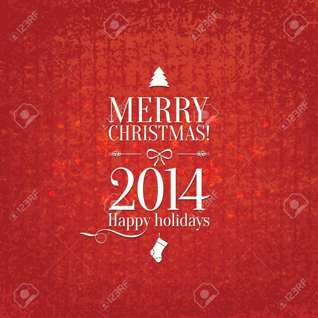 Christmas and New Year  Vector greeting card Stock Vector - 21953415