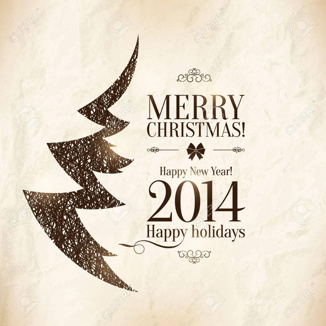 Christmas and New Year  Vector greeting card Stock Vector - 21953425