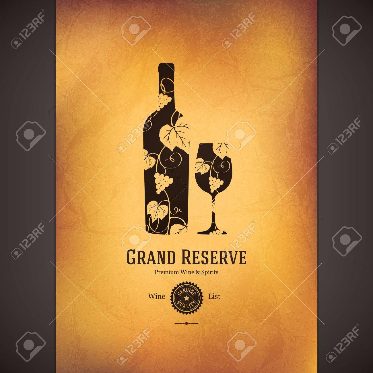 Wine list design Stock Vector - 23036405