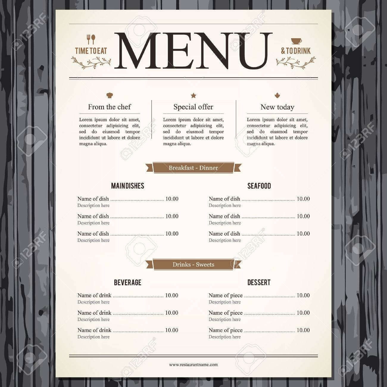 Restaurant Menu Design Royalty Free Cliparts Vectors And Stock Illustration Image 29138539