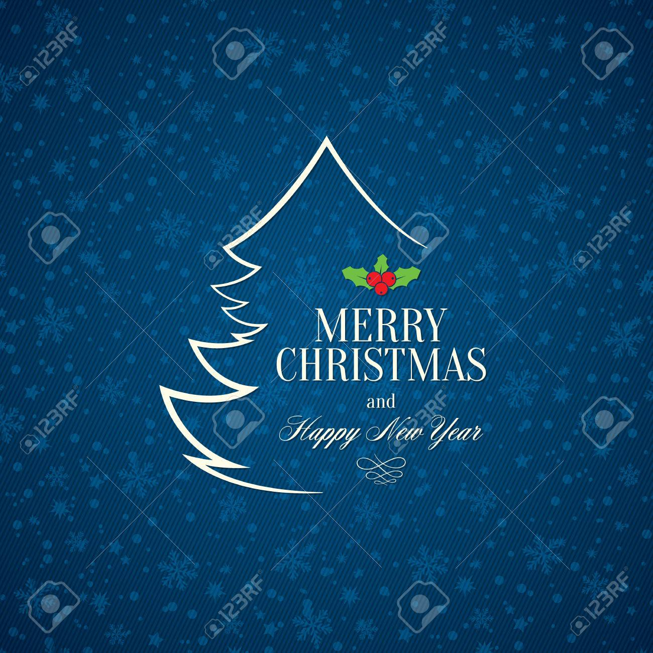 Christmas and New Year greeting card - 30728050