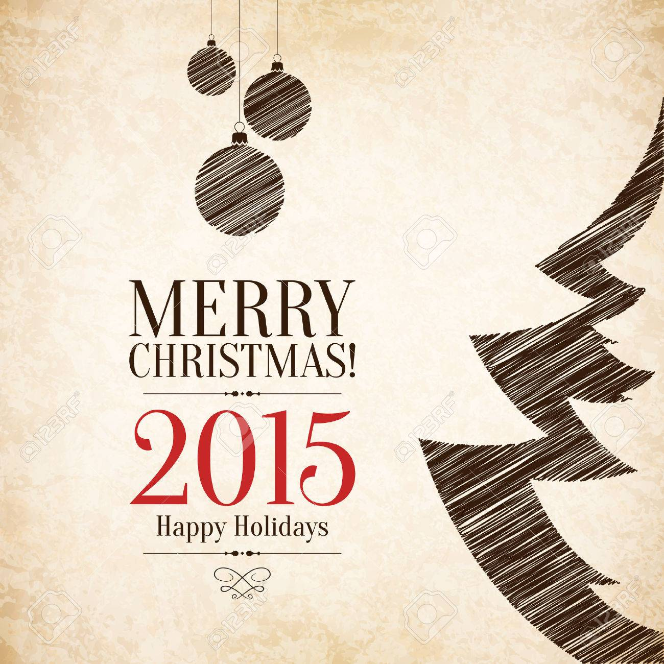 Christmas and New Year greeting card - 30728063