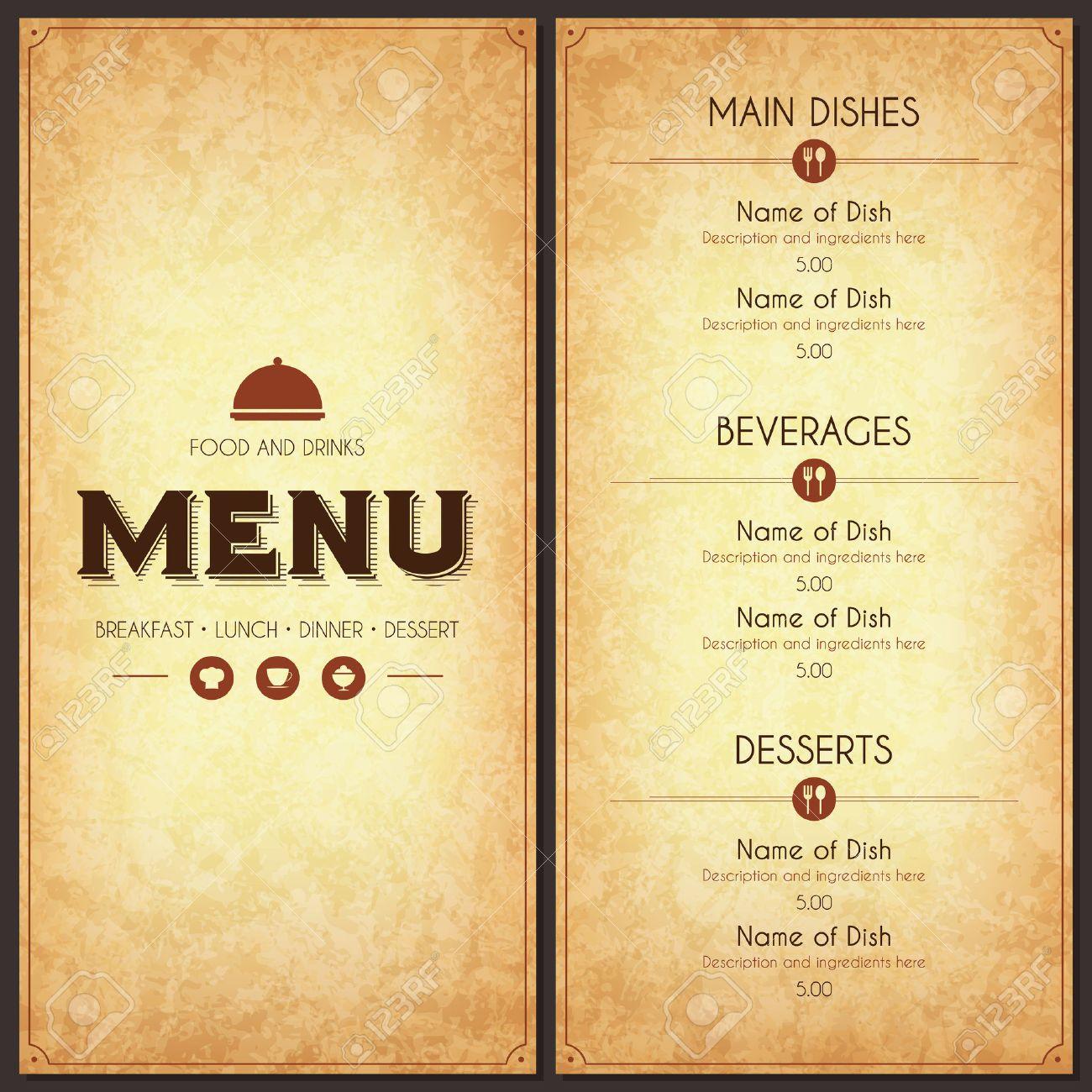 Restaurant Menu Design Royalty Free Cliparts Vectors And – Menu