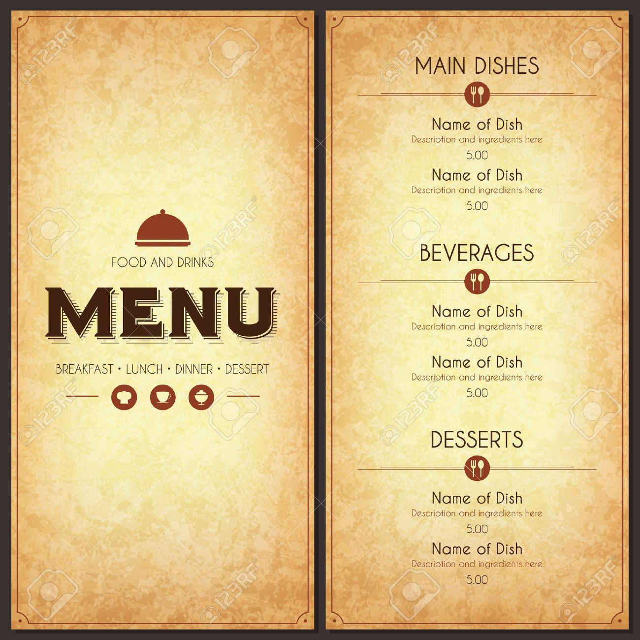 Restaurant Menu Design Royalty Free Cliparts Vectors And Stock Illustration Image 35168077