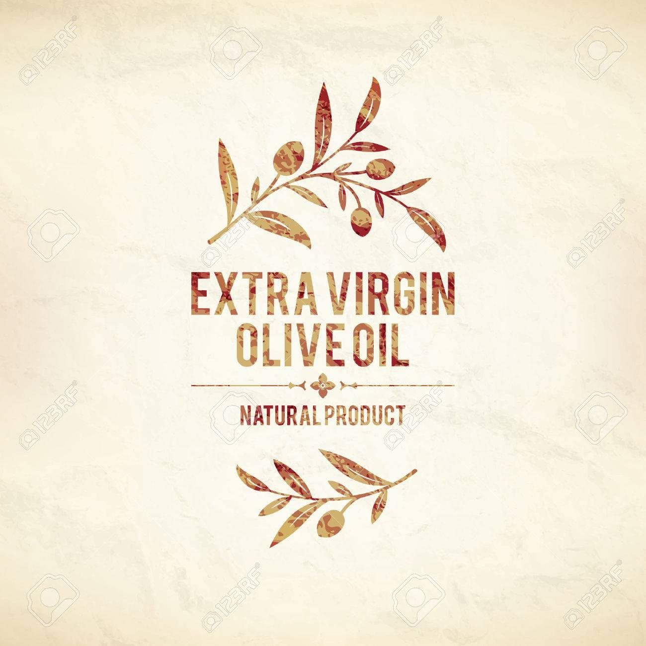 Olive label, logo design - 35168176