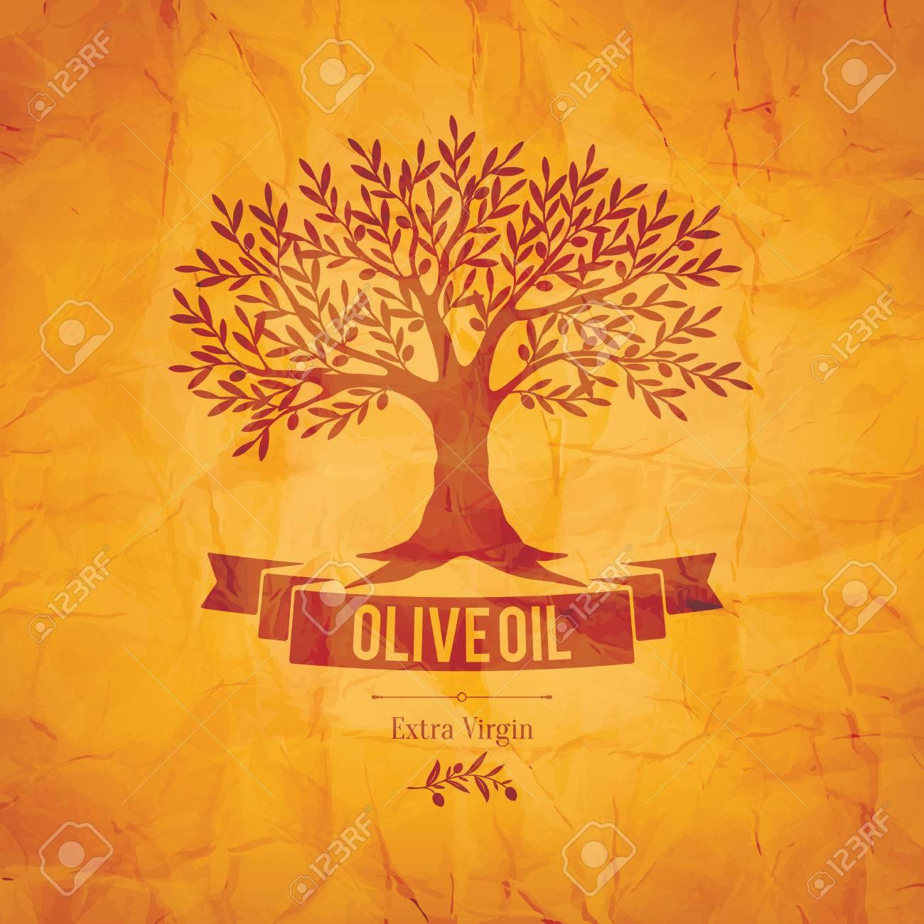 Olive label, logo design. Olive tree - 35168178