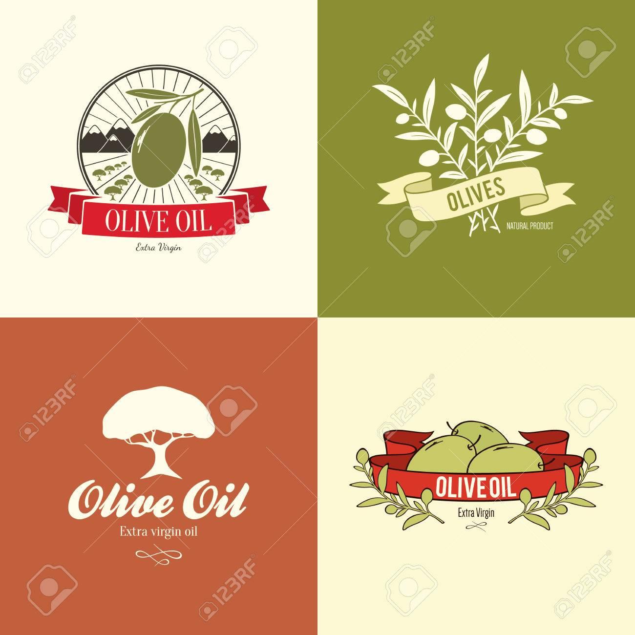 Olive label, logo design - 35168180