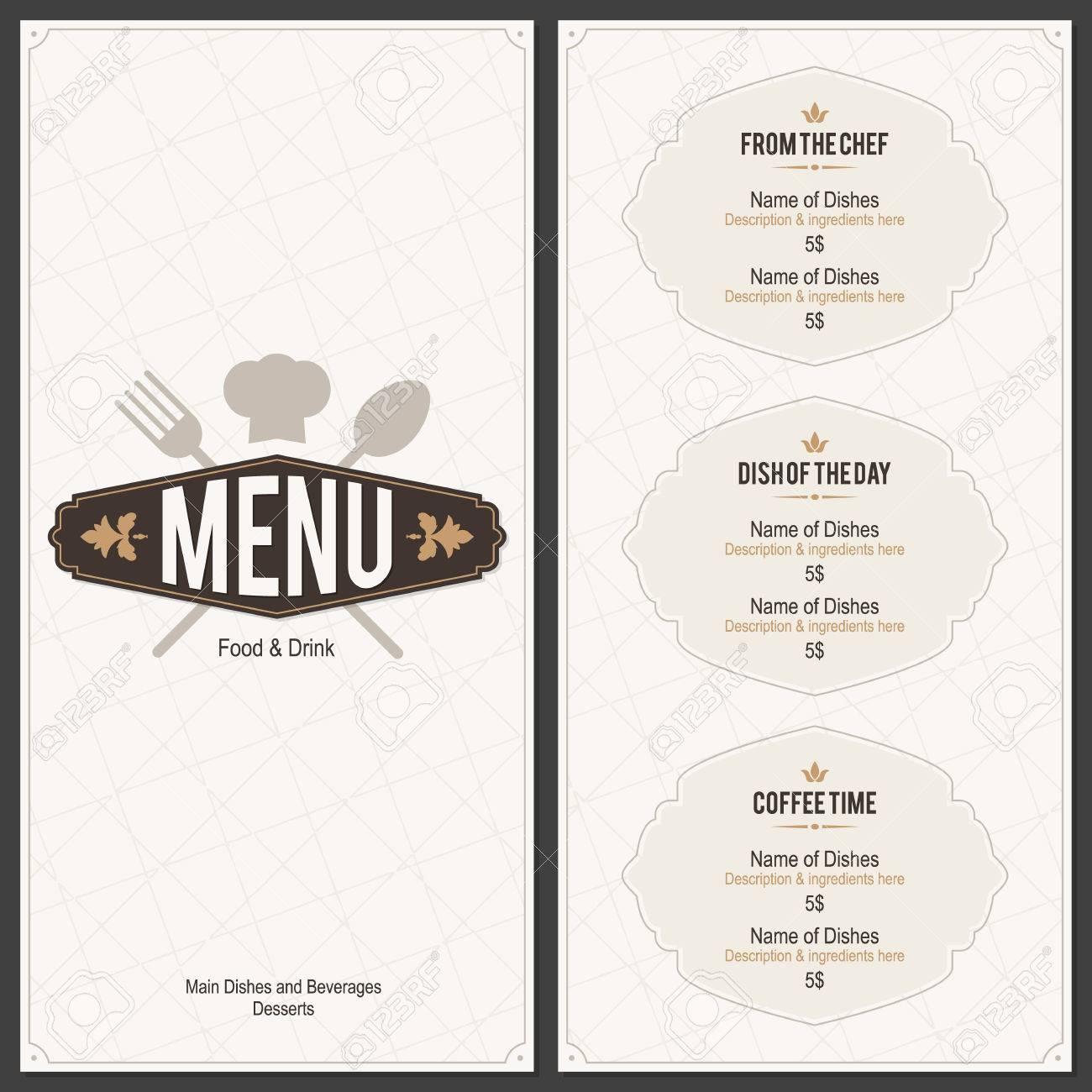Restaurant menu design - 37726663