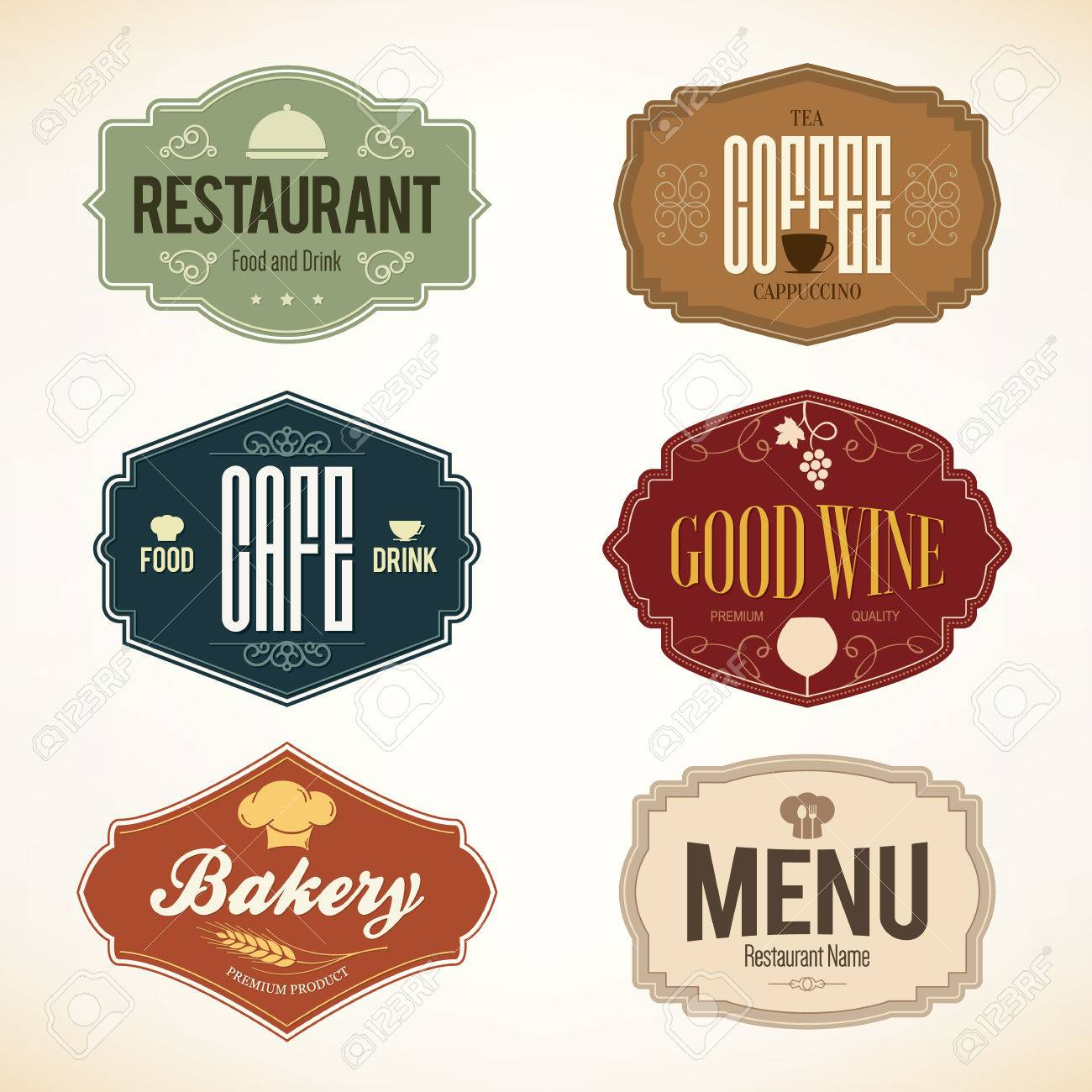 Vintage and labels design. set for restaurant, cafe and coffee house - 37726666