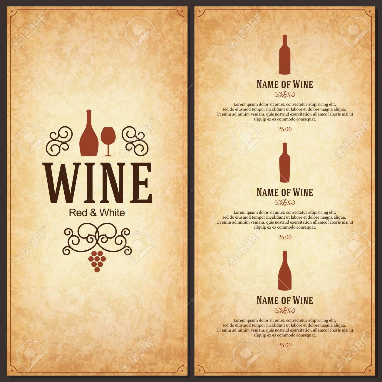 Wine list design - 37727024
