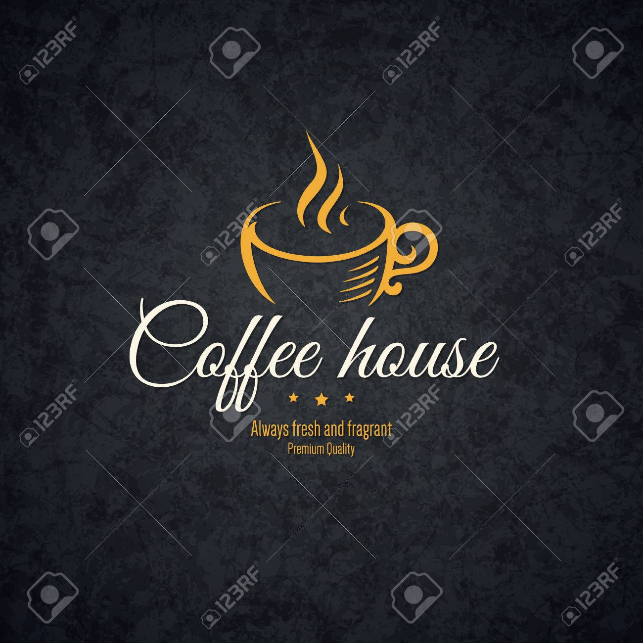 Vintage design for coffee house, cafeteria, bars, restaurant, tea shop - 43961251