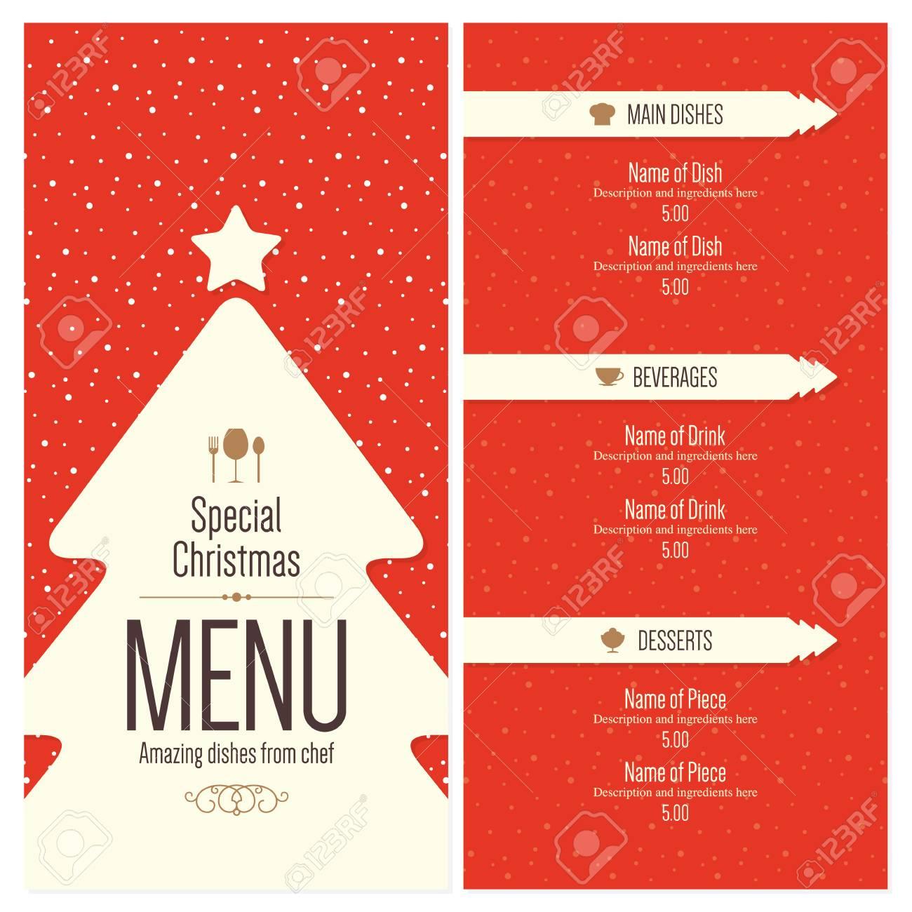 special christmas festive menu design royalty free cliparts vectors