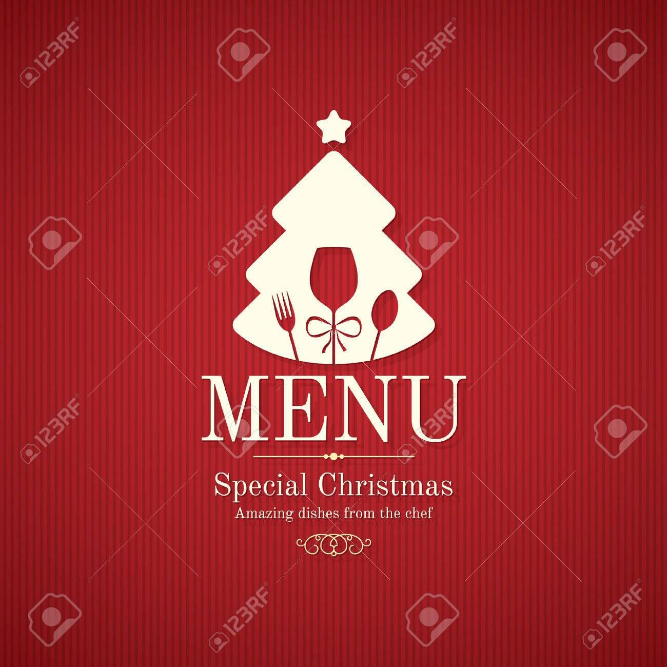 Special Christmas festive menu design - 46607708