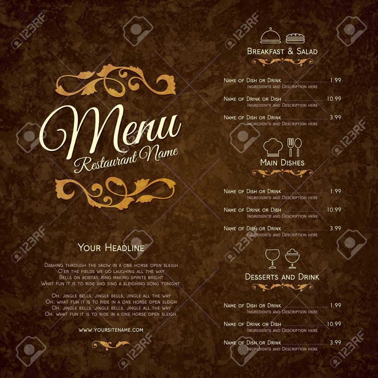 Restaurant menu design - 54504823