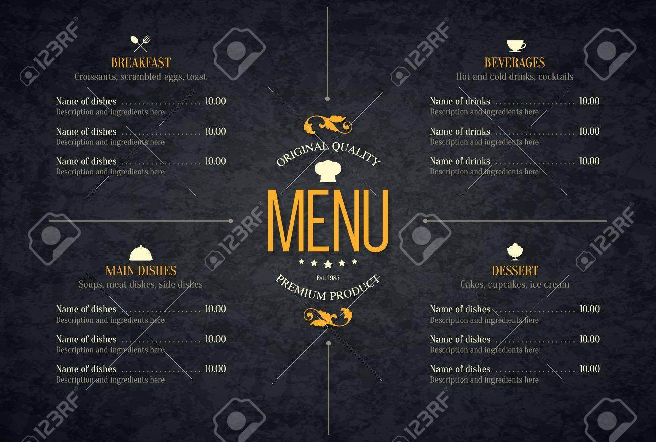 Restaurant menu design. - 56953182