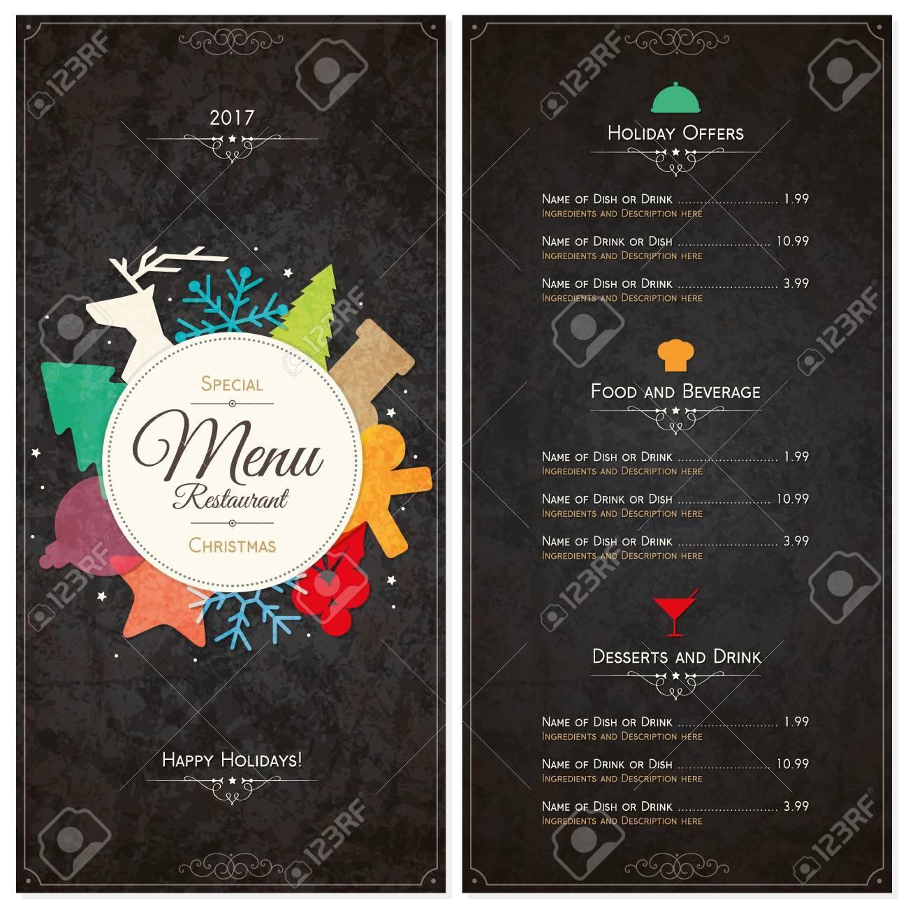 Special Christmas festive menu design - 64320704