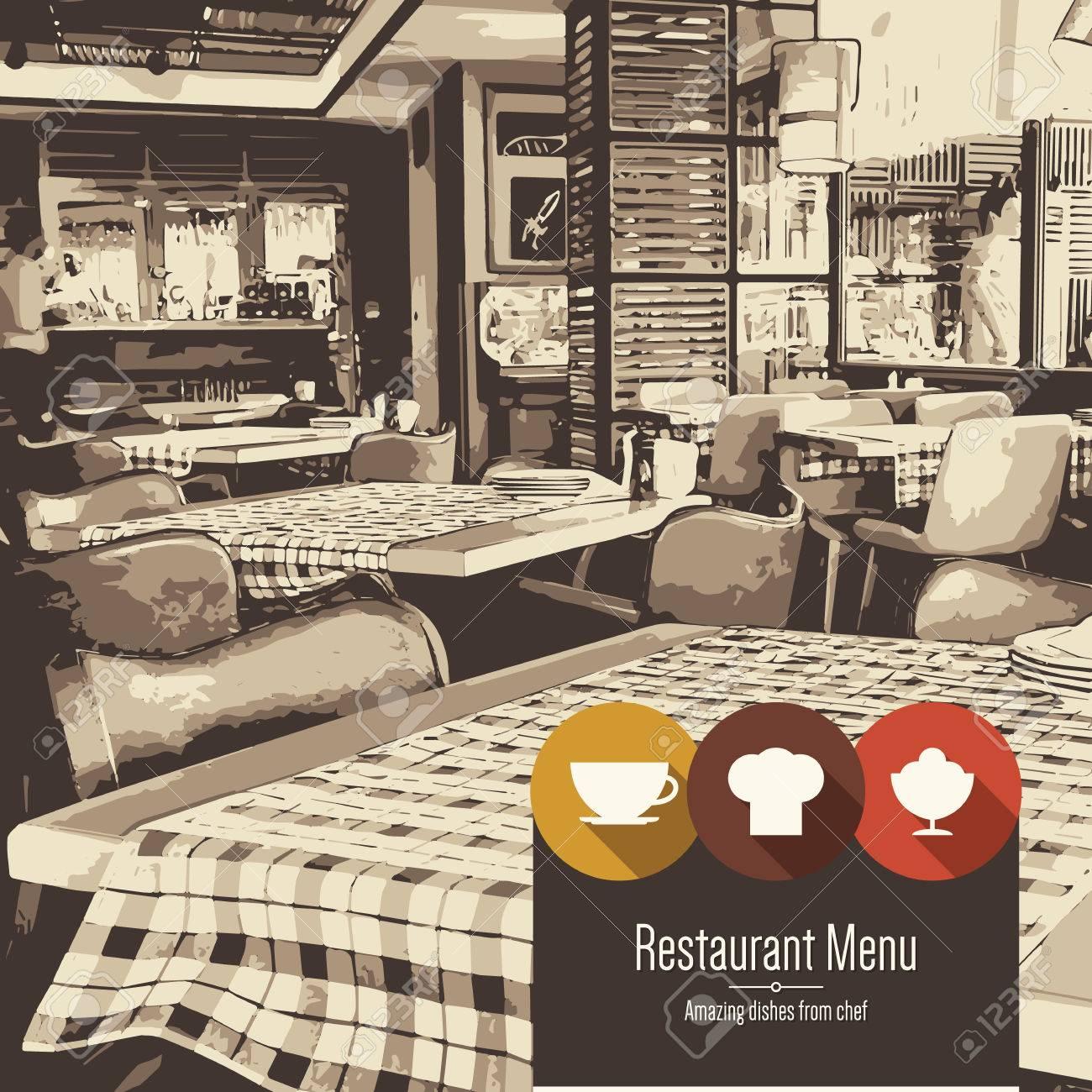 Restaurant Menu Design Vector Menu Brochure Template For Cafe - Menu brochure template