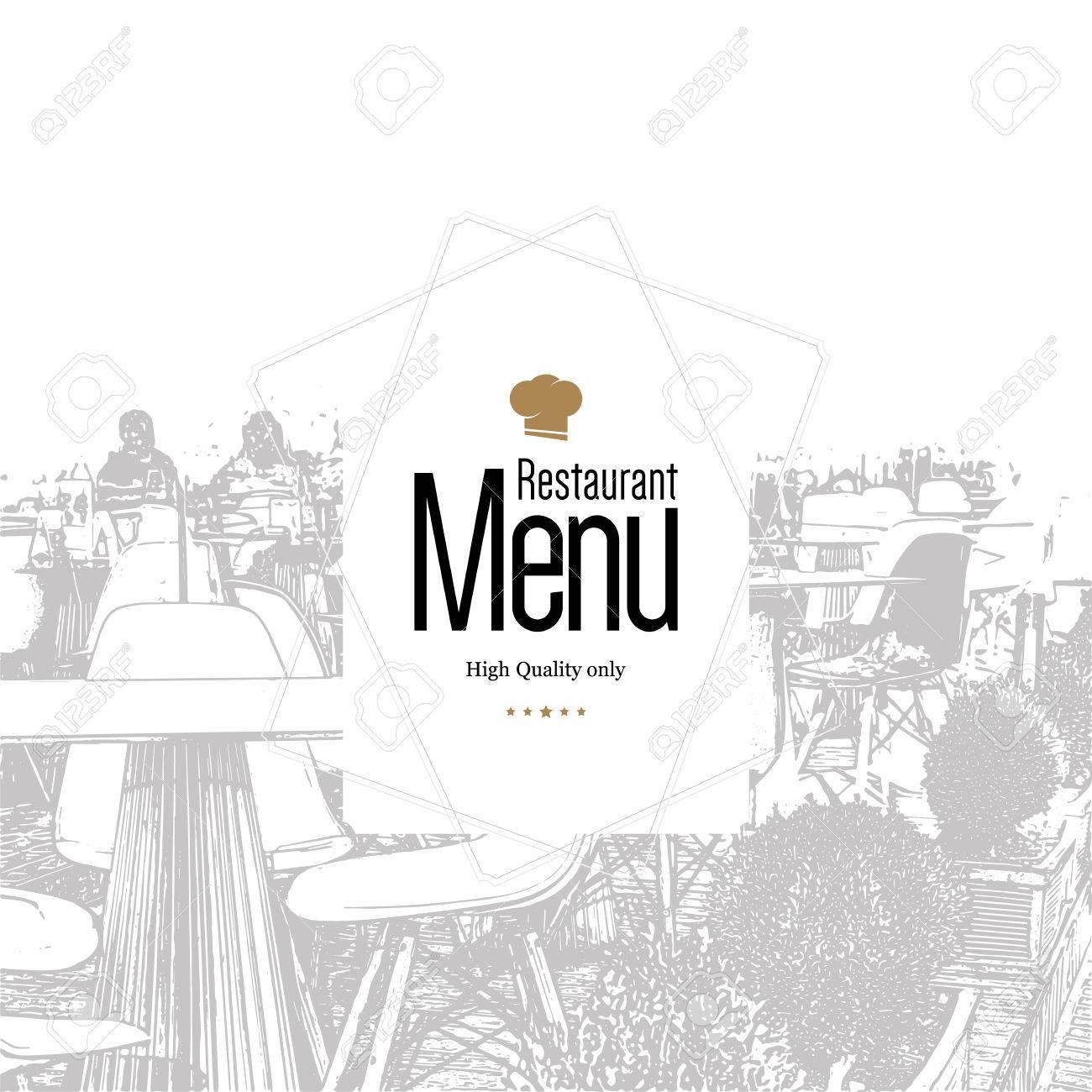 Restaurant Menu Design Vector Menu Brochure Template For Cafe - Menu brochure template free