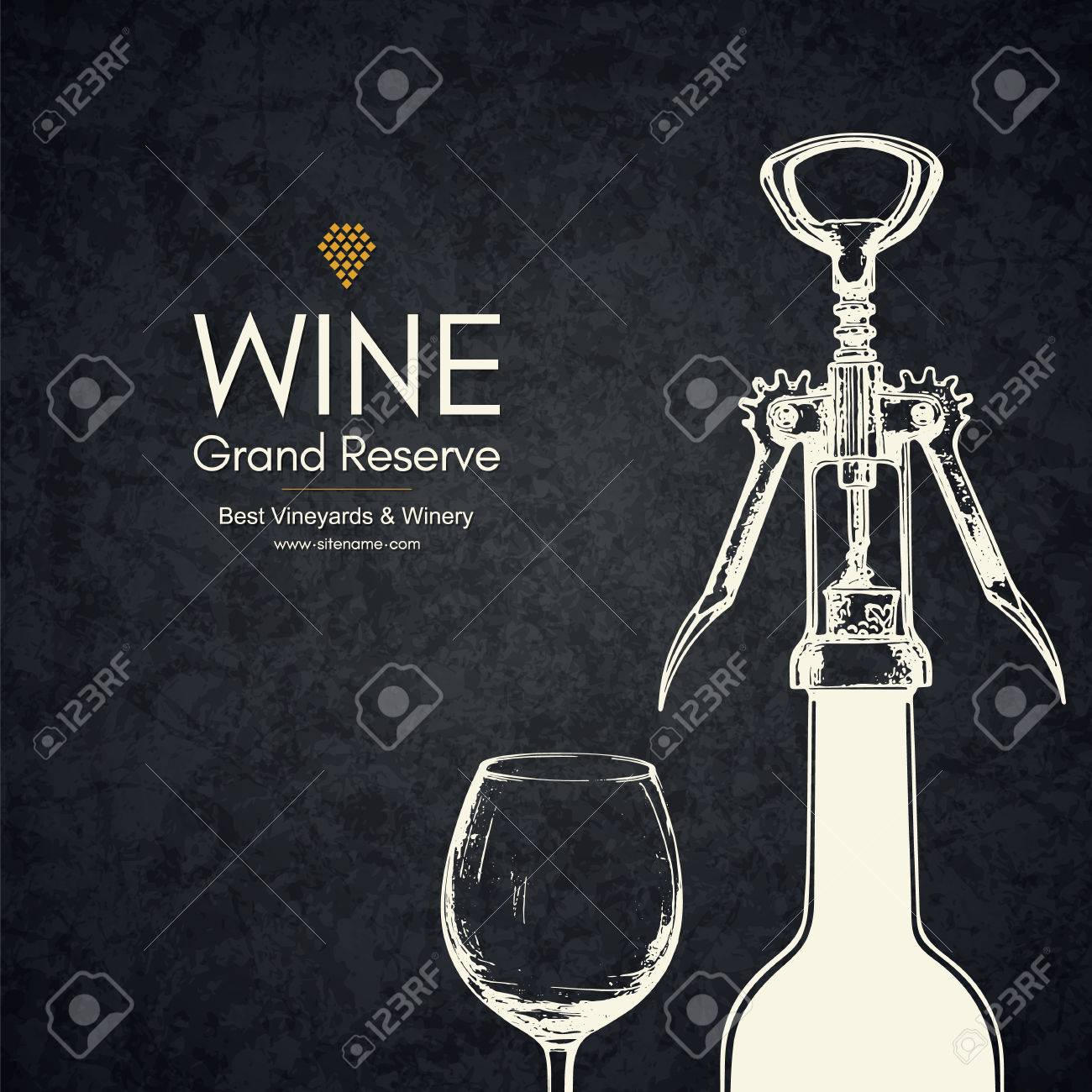 vector brochure template for winery cafe restaurant bar wine bottles and glasses