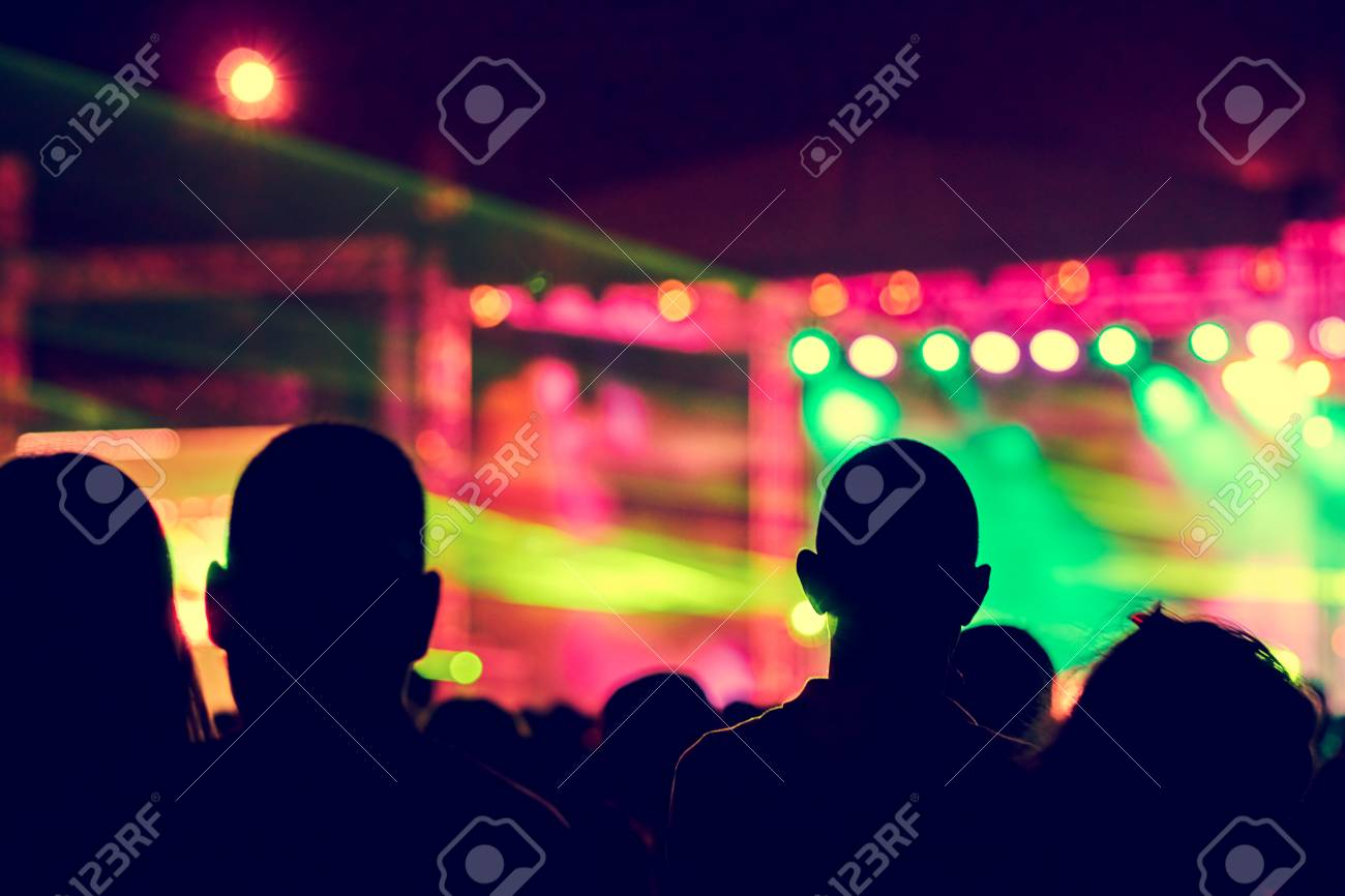 Blurred Youth Music Festival of pop music  Laser show on the