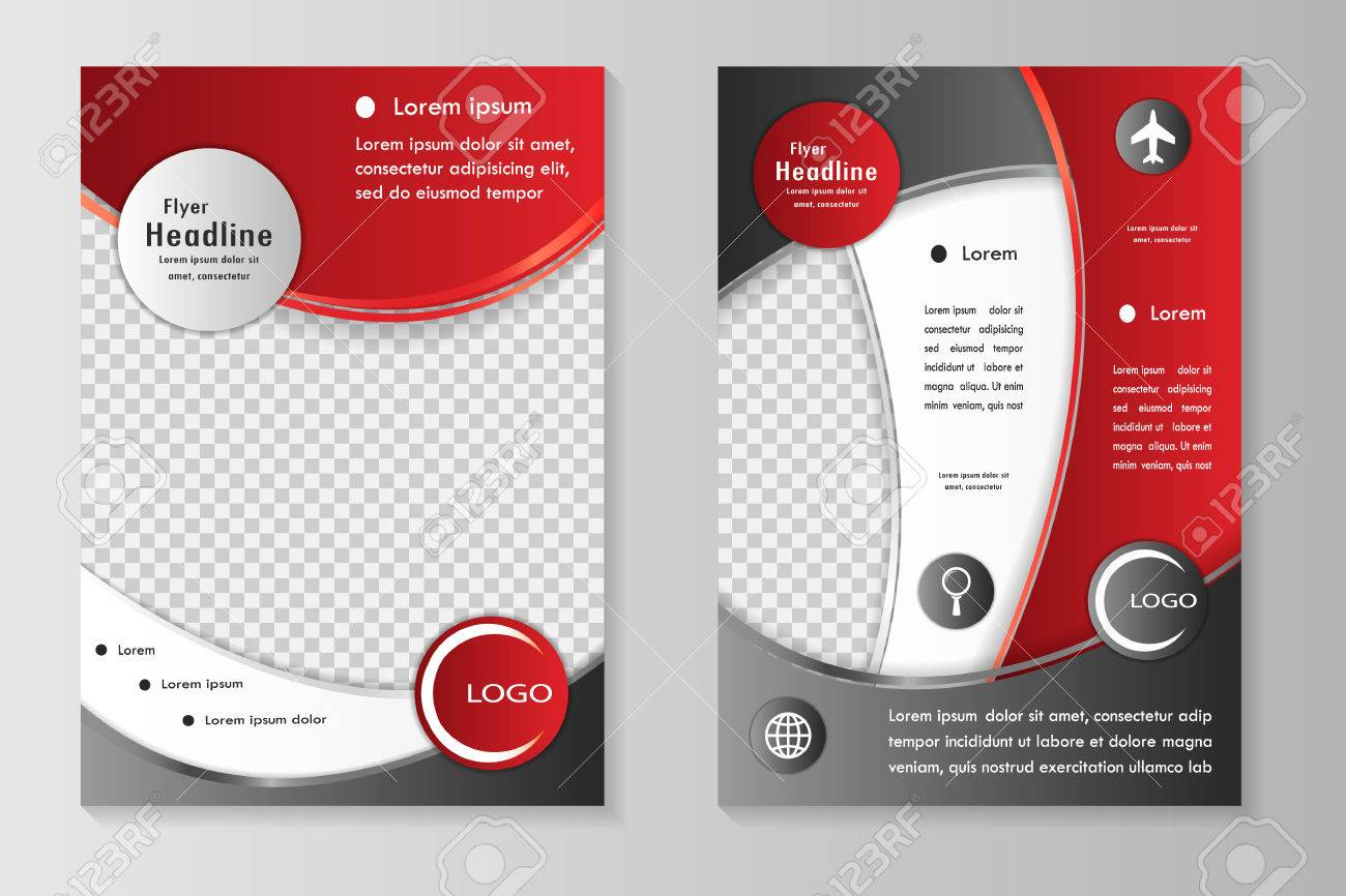 vector flyer template design with front page and back page business