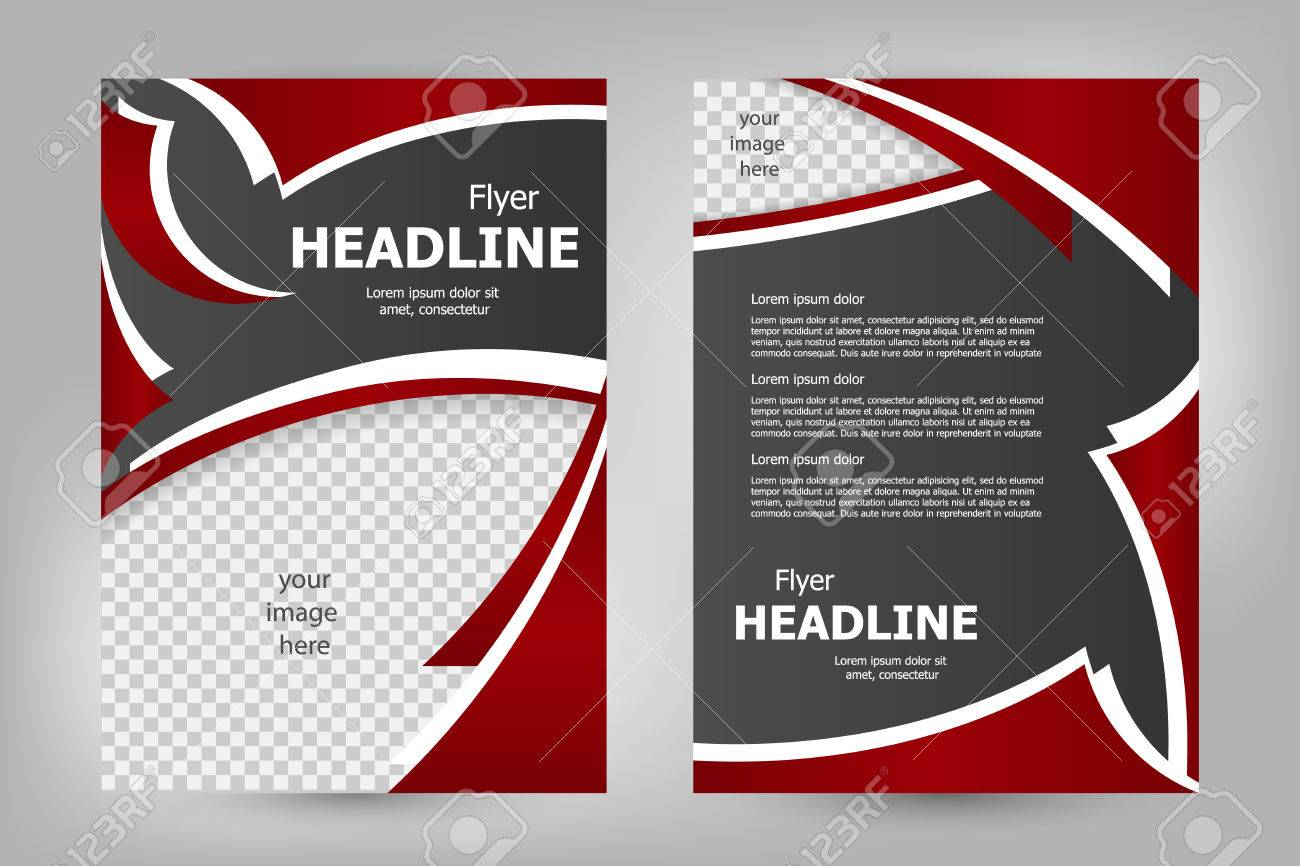 vector flyer template design for business brochure leaflet