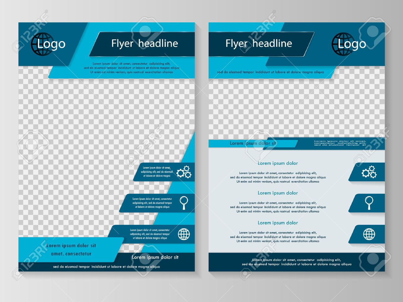 vector flyer template design front page and back page vector vector flyer template design front page and back page business brochure or cover