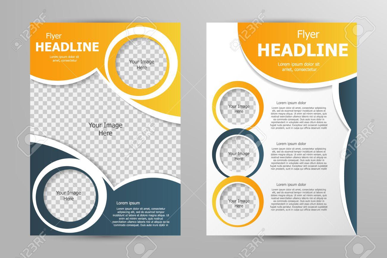 Flyer Template | Vektor Flyer Template Design Fur Geschaftsbroschure Prospekt Oder